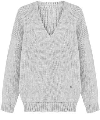 You By Tokarska Mia V-Neck Sweater Light Grey