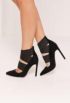 Missguided Elastic Strap Court Shoes Black