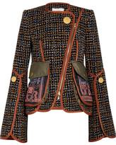 Peter Pilotto Embroidered Tweed Jacket - Navy