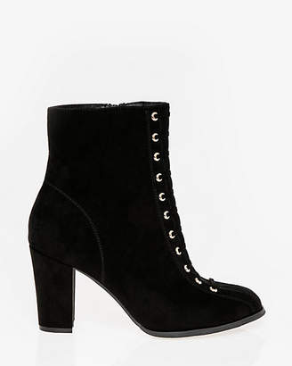 Le Château Lace-Up Round Toe Ankle Boot