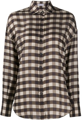 Brunello Cucinelli Gingham Check Shirt