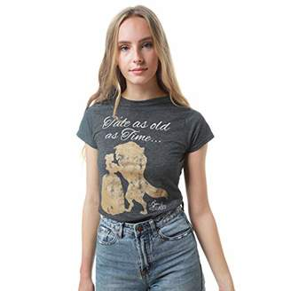 Disney Women's Beauty and The Beast Tale AS Old AS TIME T-Shirt,(Size:XX-Large)