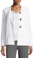 Neon Buddha Stella Loop-Button Boxy Jacket, White