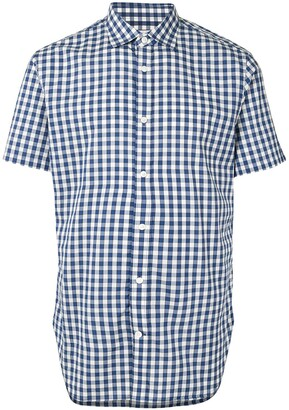 Kent & Curwen Gingham Check Short-Sleeve Shirt