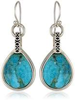 Barse Silhouette Sterling Silver Turquoise-Drop Earrings