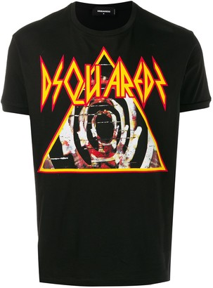 DSQUARED2 pyramid logo T-shirt