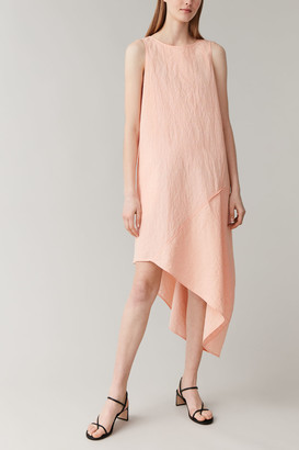 Cos Cotton-Linen Asymmetric Dress