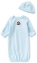 Little Me Baby Boys Newborn-3 Months Monkey Star Gown