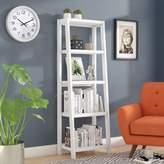 Andover Mills Isla Ladder Bookcase Color: Bright White