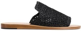 Dolce & Gabbana Woven Open Toe Sandals