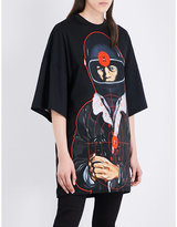 Christopher Kane Policeman-print Cotton-jersey T-shirt