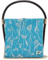 Rochas Metallic Brocade Satin Clutch - Womens - Blue Multi