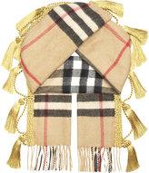 Burberry Check tassel cashmere scarf