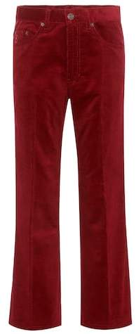 Marc Jacobs Cropped velvet trousers