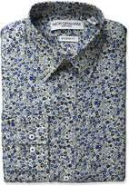Nick Graham Everywhere Men's Tonal Floral Print Dress Shirt