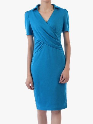Jolie Moi V-Neck Pencil Dress