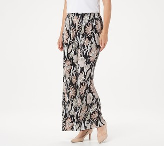 Joan Rivers Classics Collection Joan Rivers Petite Floral Print Accordion Pleat Palazzo Pants