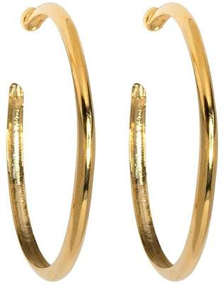 Kenneth Jay Lane Gold Hoop Pierced Or Clip Earrings