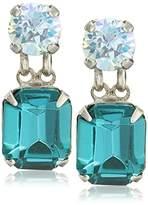 "Sorrelli Ocean"" Crystal Octagon and Round Post Stud Earrings"