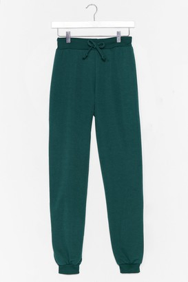 Nasty Gal Womens Don't Run Your Mouth High-Waisted Joggers - Green - 16