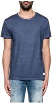 Dondup Blue Flagstaff Washed Cotton T-shirt