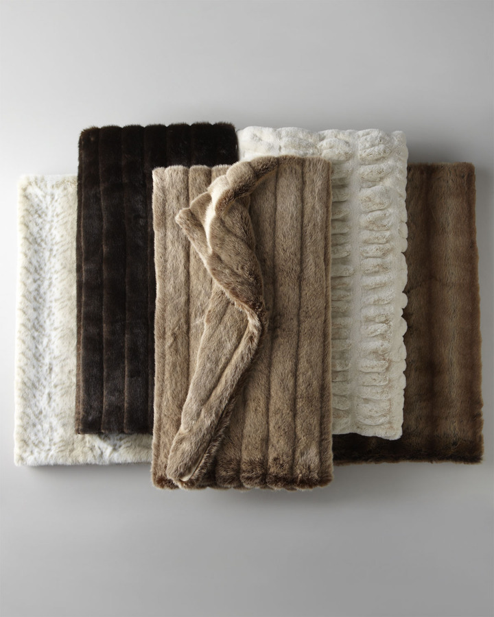 Horchow Faux Fur Throws