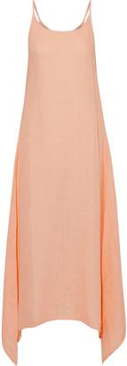 Onia Elise Asymmetric Linen-gauze Maxi Dress