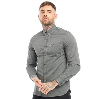 Fred Perry Mens Tonic Gingham Long Sleeve Shirt Ivy