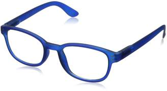 Corinne McCormack Women's Blue Color Spex 1015411-250.CMC Square Reading Glasses
