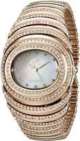 Adee Kaye Optic ak21-LRG/C 36.3x37mm Brass Case Rose Gold Brass Mineral Women's Watch
