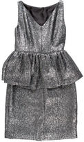 Kate Spade Metallic Peplum Dress