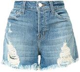 J Brand distressed shorts - women - Cotton/Polyester - 24