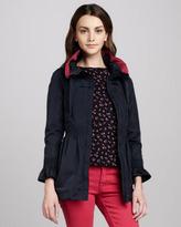 RED Valentino Smocked-Waist Anorak Jacket