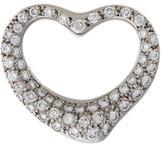 Tiffany & Co. Platinum Diamond Open Heart Pendant