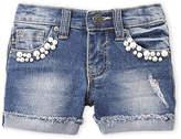 Vigoss Girls 4-6x) Pearl Cluster Denim Shorts