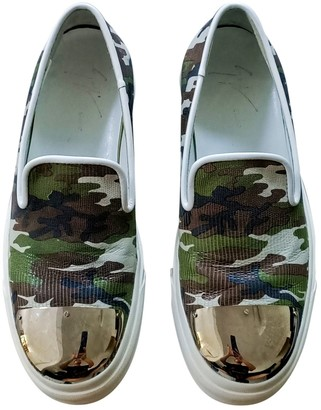 Giuseppe Zanotti Green Leather Trainers