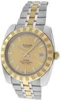 Tudor Rotor 21013 Stainless Steel 18K Yellow Gold 41mm Mens Watch