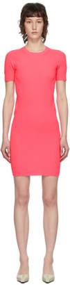 Helmut Lang Pink Essential Mini Dress