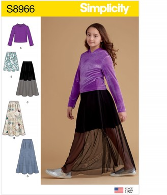 Simplicity Children's Top and Skirt Sewing Pattern, 8966
