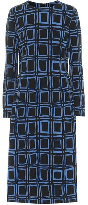 Marni Printed cotton-blend midi dress