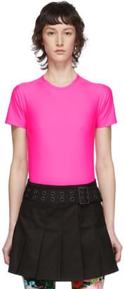 Junya Watanabe Pink Nylon Tricot T-Shirt