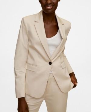 MANGO Women's Buttoned Soft Blazer