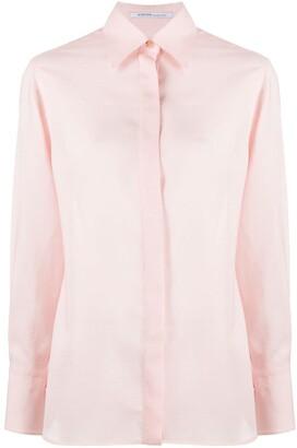 Agnona Pointed Collar Side Slit Detail Shirt