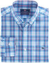 Vineyard Vines Sunset Pines Plaid Classic Tucker Shirt