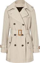 D&G Dolce & Gabbana Beige Cotton Trench Coat