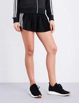 adidas 3-Stripes pleated satin shorts