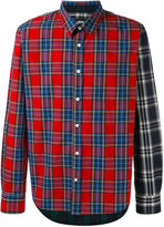 Stussy contrast sleeve plaid shirt