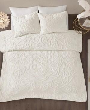 Madison Home USA Laetitia Full/Queen 3 Piece Cotton Chenille Medallion Comforter Set Bedding