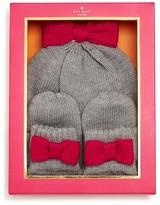 Kate Spade Girls' Bow Hat & Mittens Set - Sizes S/M & L/XL