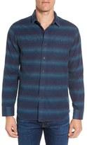 Grayers Men's Lewellyn Trim Fit Striped Flannel Sport Shirt